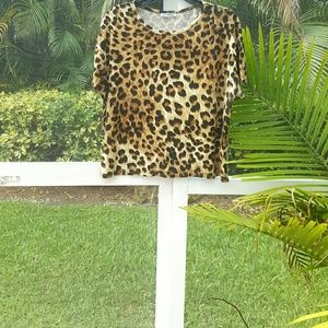 Zara Animal Print  Top Size L